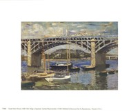 Bridge at Argenteuil (bridge center) Fine-Art Print