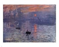 Impression, Sunrise, c.1872 (blue) Fine-Art Print