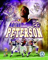 Adrian Peterson - 2007 Portrait Plus Fine-Art Print