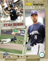 Ryan Braun - 2007 NL ROY / Portrait Plus Fine-Art Print