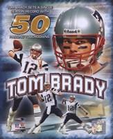 Tom Brady 50 TD's Portrait Plus Fine-Art Print