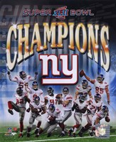 New York Giants 2007 Super Bowl XLII Champions Composite Fine-Art Print