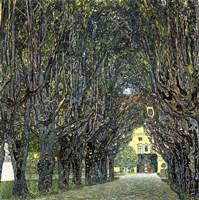 Avenue of Trees in the Park at Schloss Kammer, c.1912 Fine-Art Print