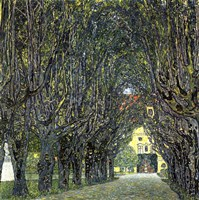 Avenue of Trees in the Park at Schloss Kammer, c.1912 Fine-Art Print