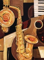 Abstract Sax - mini Fine-Art Print