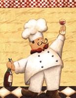 Le Chef et le Vin - mini Fine-Art Print