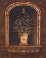 Olive Topiary Niches II - mini Fine-Art Print