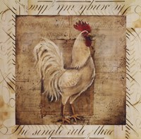 Rustic Farmhouse Rooster I - special Fine-Art Print