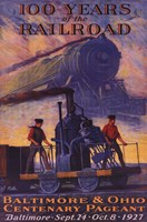 100 Years Railroad Wall Poster