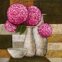 Hydrangeas with Vase I Fine-Art Print
