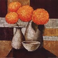 Hydrangeas with Vase III Fine-Art Print