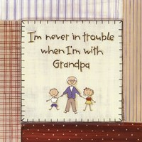 I'm Never in Trouble.. Framed Print