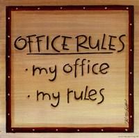 Office Rules Framed Print