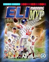 Eli Manning SuperBowl XLII MVP Portrait Plus Fine-Art Print