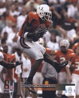 Andre Johnson University of Miami Action Fine-Art Print