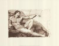 Creation of Adam (Adam detail) (embossed) Fine-Art Print