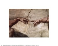 Creation of Adam (hands detail) Fine-Art Print