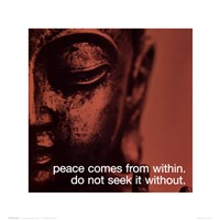 Buddha - iPhilosophy - Peace Wall Poster