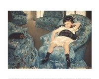 Little Girl in a Blue Armchair, 1878 Fine-Art Print