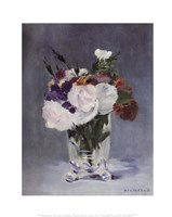Flowers in a Crystal Vase - white Fine-Art Print