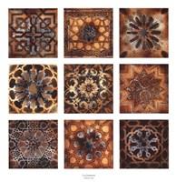 Turkish Tiles (Silver Foil Embellished) Fine-Art Print