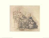 Reading Woman with Child Fine-Art Print