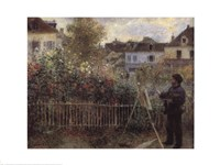 Monet Painting in the Garden at Argenteuil, 1873 Fine-Art Print
