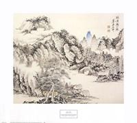 Pavilion with Distant Mountain Fine-Art Print