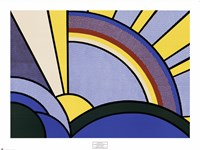 Modern Painting of Sun Rays Fine-Art Print