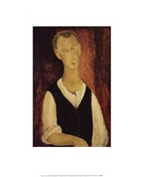 Young Man with a Black Waistcoat, 1912 Fine-Art Print