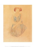 Seated Woman in a Dress, after 1900 Fine-Art Print