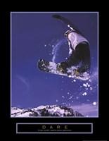 Dare - Snowboarder Framed Print