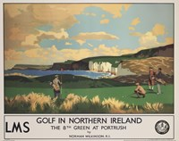 Vintage Golf - Golf In Northern Ireland Fine-Art Print