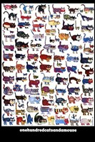 100 Cats and a Mouse Fine-Art Print
