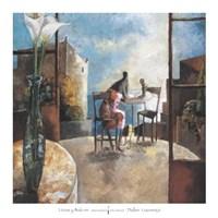 Lirios y Balcon Fine-Art Print
