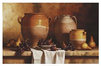 Confit Jars with Fruit Fine-Art Print