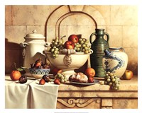 Italian Still Life with Green Grapes Fine-Art Print