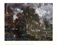 John Constable - On the River Stour Fine-Art Print