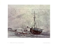 Coast Scene With Ships Fine-Art Print