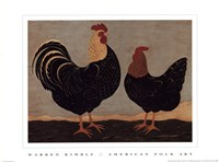 Double Roosters Fine-Art Print