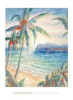 Tropical Breeze I - palm trees Fine-Art Print