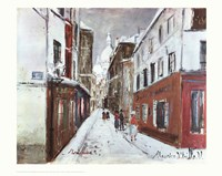 Sacre-Coeur in Winter Fine-Art Print
