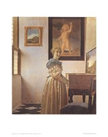 Young Woman Standing At a Virginal Fine-Art Print