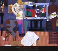 Profile/Part II, The Thirties: Artist with Painting and Model, 1981 Fine-Art Print