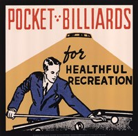 Pocket Billiards for Healthful Recreation Fine-Art Print