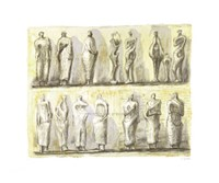 Standing Figures (serigraph) Serigraph