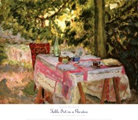 Table Set in a Garden Fine-Art Print