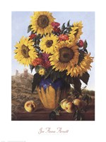 Sunflowers Over Castle Ruin Fine-Art Print