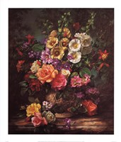 Still Life with Hollyhocks Fine-Art Print