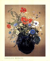 Blue Vase of Flowers Fine-Art Print